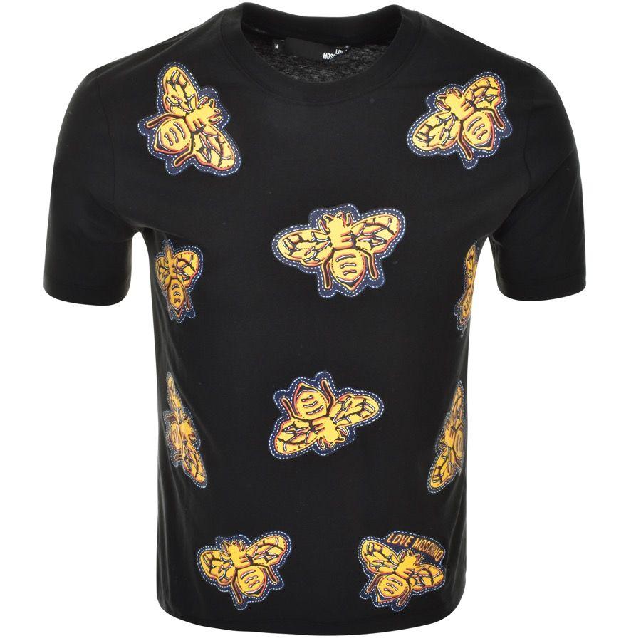 Love Moschino Bee T Shirt Black That Should Be Mine Playeras