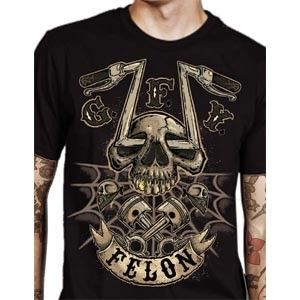 Chopper Skull Men's Tee by Felon