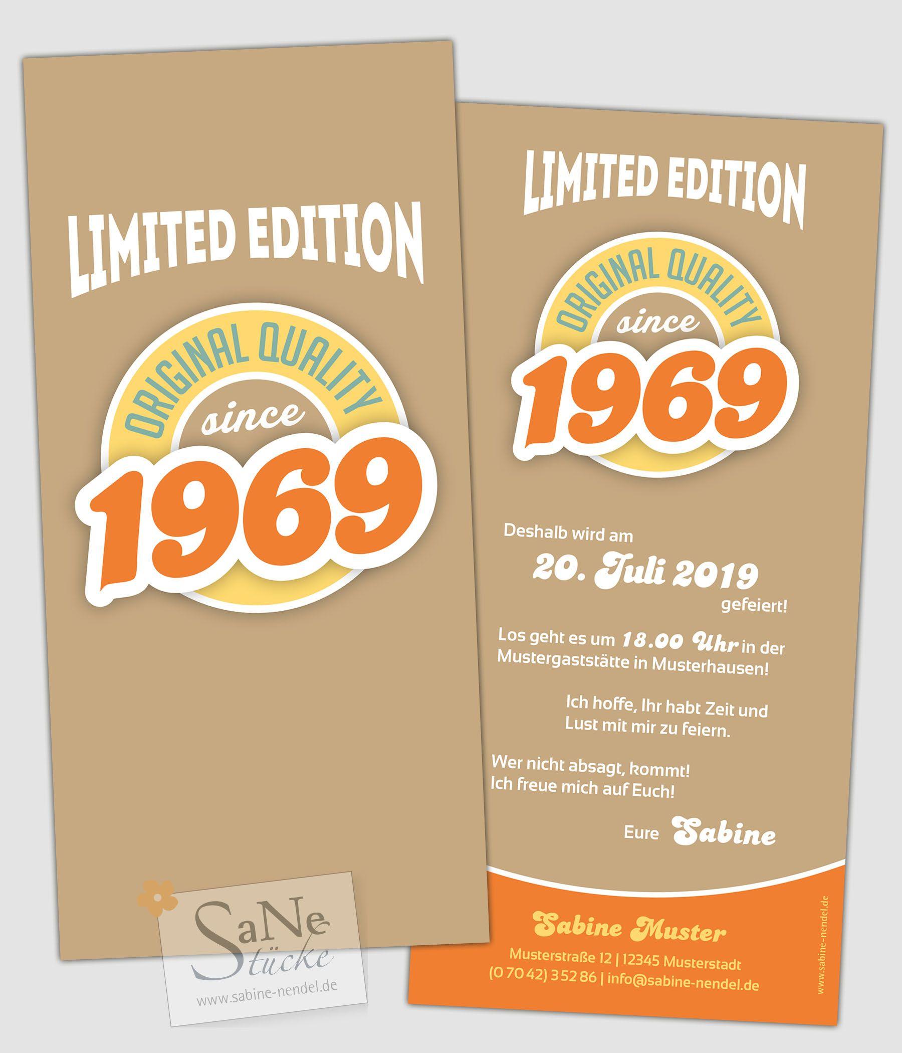 Vintage Jahrgang Einladungskarten Zum 50 Einladungskarten 50