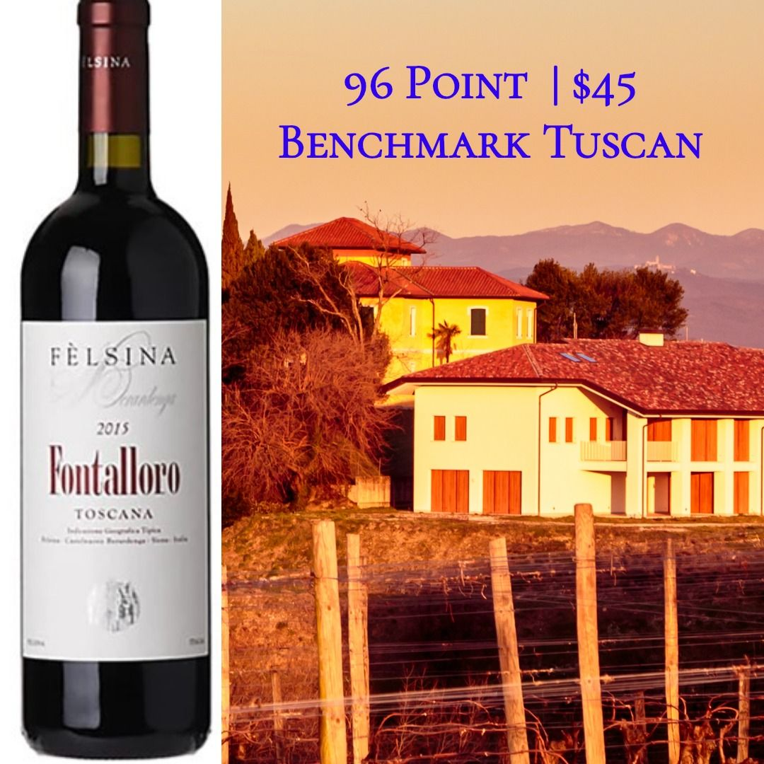 Felsina Fontalloro 2015 Tuscan Chateau Margaux Red Wine