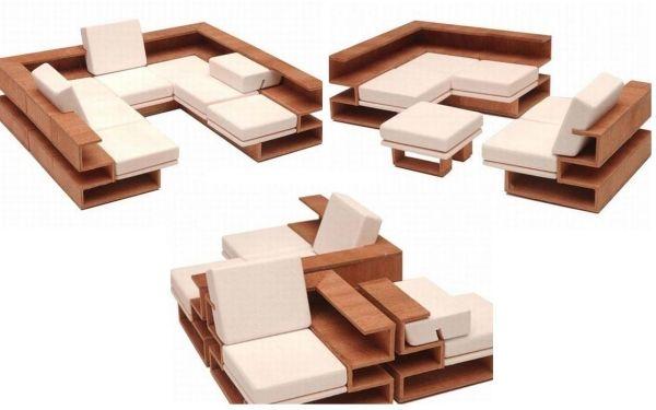 ♥ modulares sofa design für kleine räume | diseño interior ...