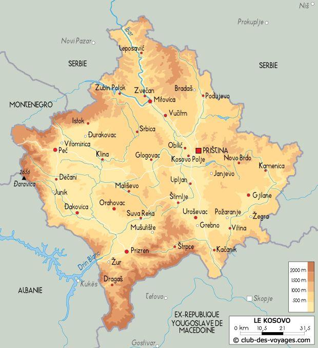 Carte Du Kosovo Carte Geographique Carte Geographie