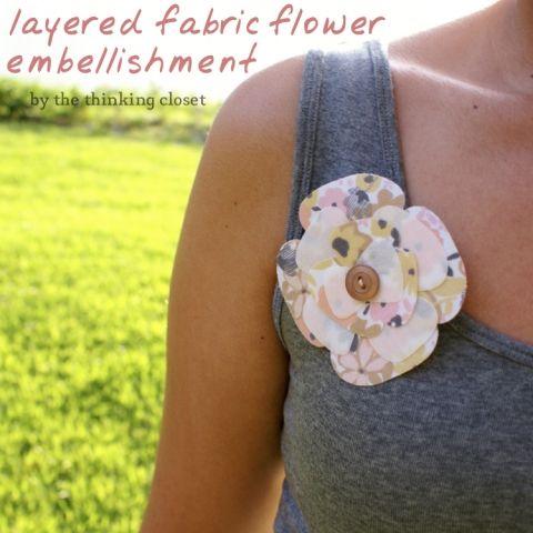 Layered Fabric Flower