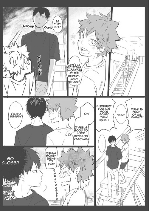 One Page Doujinshi, Bubunhanten, Hinata Shouyou, Kageyama Tobio, Haikyuu!!