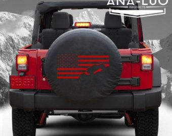 Jeep Wrangler JK Tire Cover sticker diecut vinyl by decalcart
