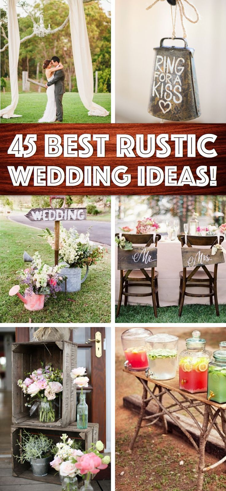 Shine on your wedding day with these breathtaking rustic wedding