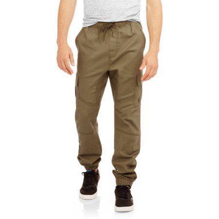 Faded Glory Men's Cargo Jogger Pants, Green