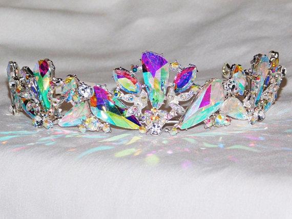Tiara Vintage 1973 Silver Plate Diamante Look Other Wedding Jewelry
