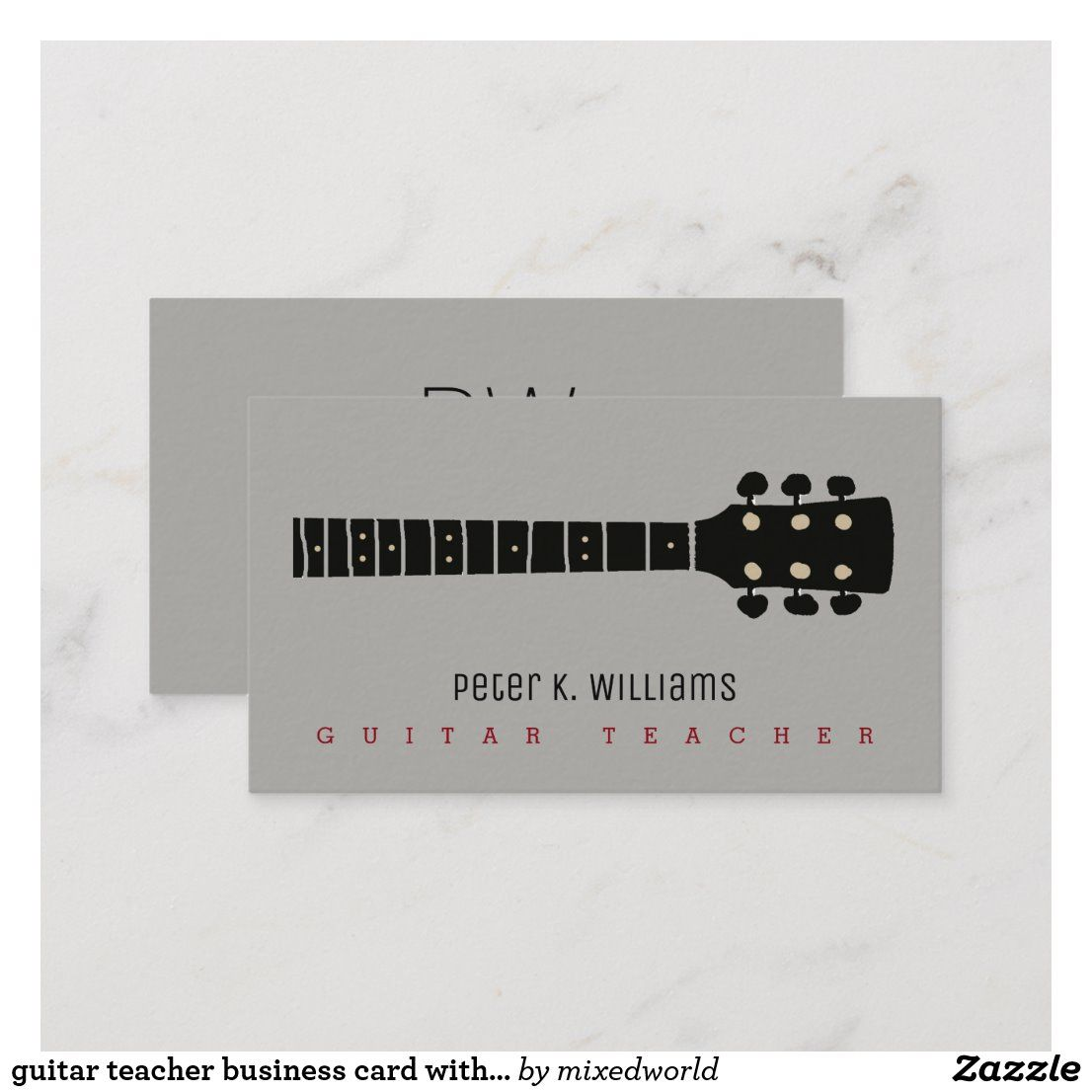 Guitar Teacher Business Card With Guitar Neck Zazzle Com Teacher Business Cards Guitar Teacher Guitar Neck