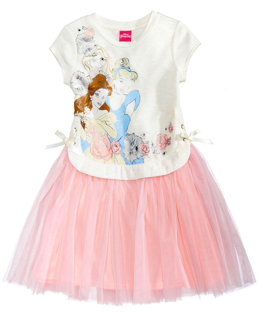 Disney Princess Lace Up Popover Ballerina Dress Toddler Girls 2t 5t Ballerina Dress Girls Dresses Kids Dress [ 1080 x 884 Pixel ]