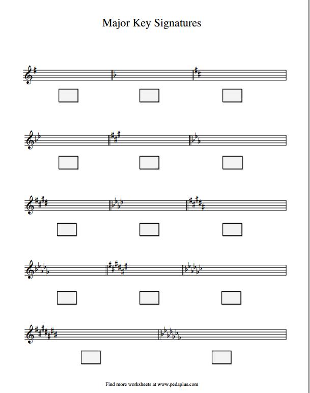Key Signatures - Major - worksheet | Piano pedagogy, Music ...
