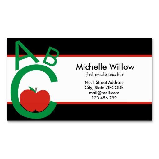 Abc apple school teacher business card template i love this design abc apple school teacher business card template i love this design it is available accmission Images