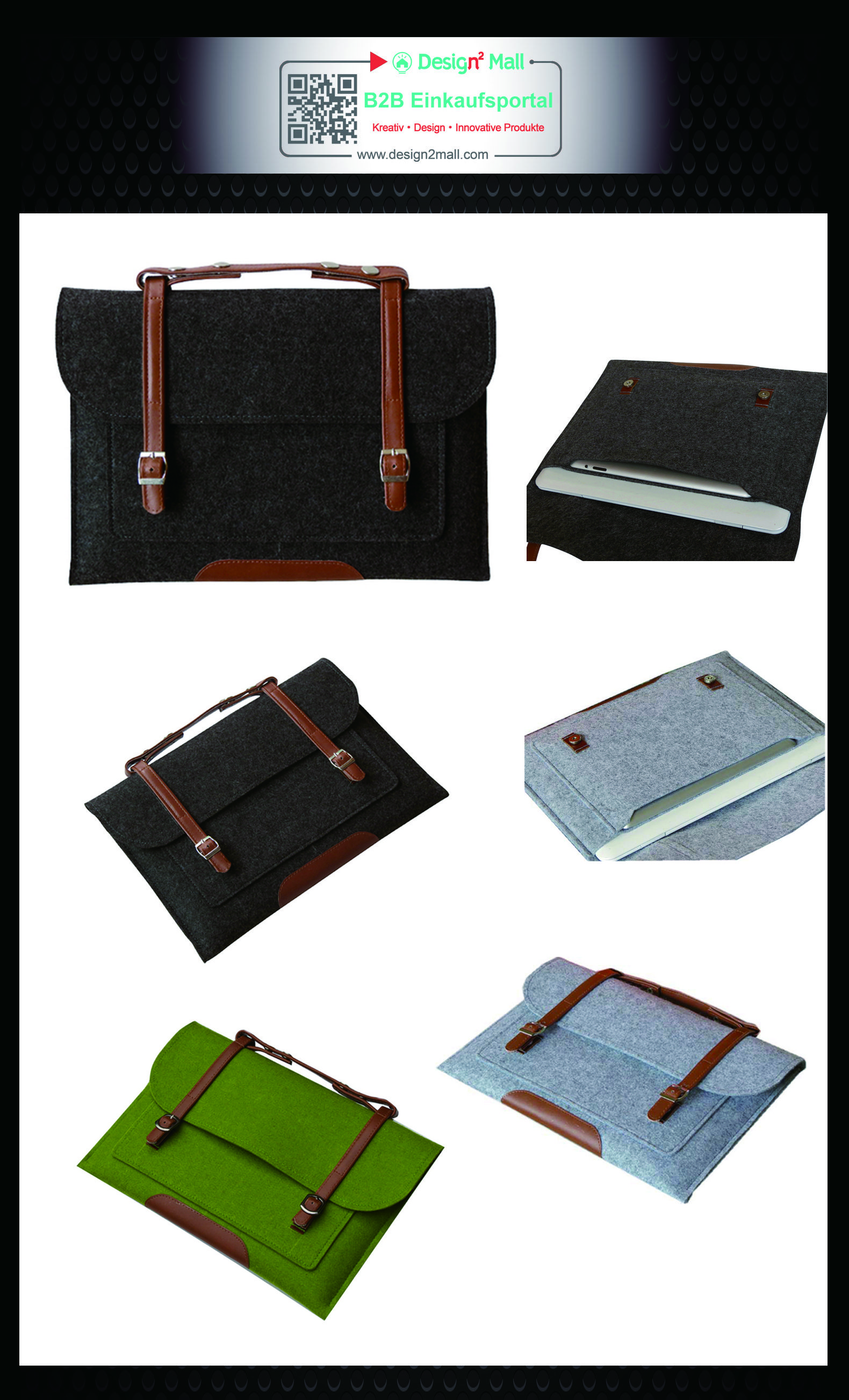 Wool Felt Macbook Ultrabook Sleeve Laptop Bag Clutch Handbag Felt