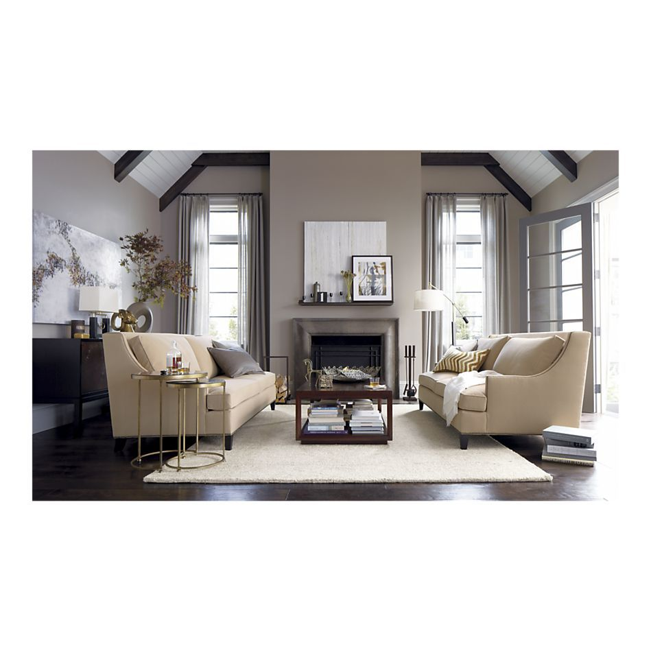 Two couches in living room. Photo from Crate and Barrel ...