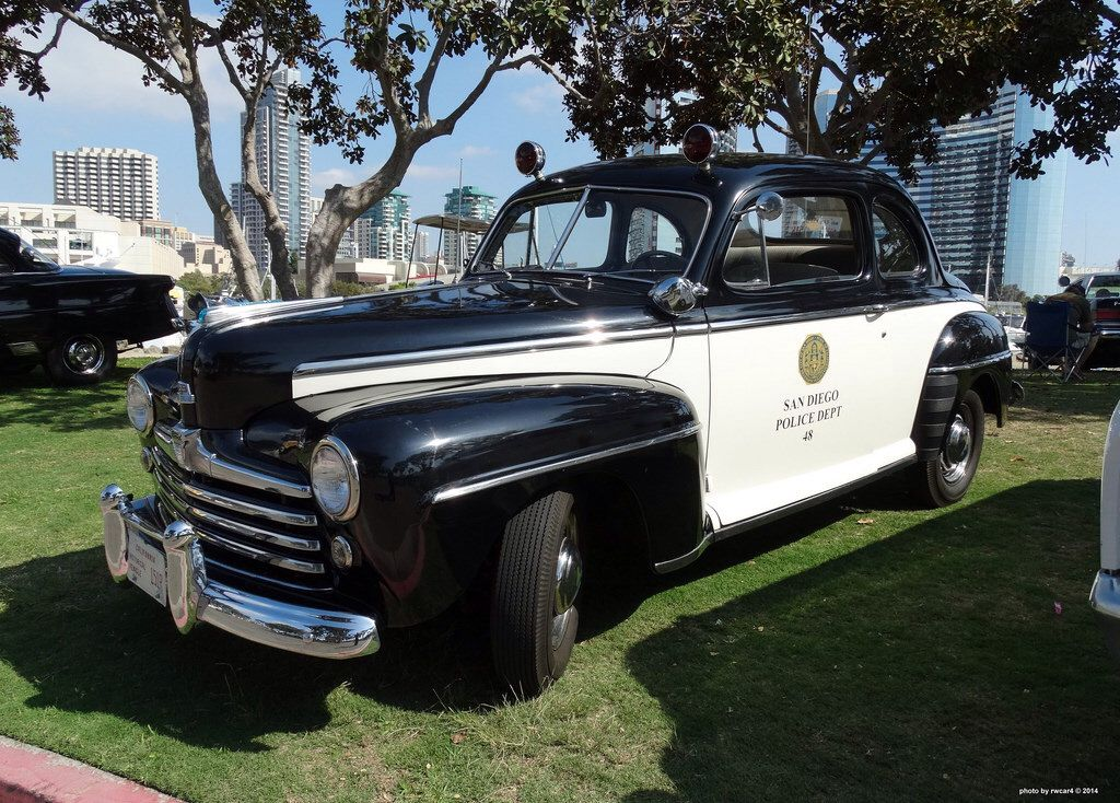 1948 ford super deluxe 8, san diego pd. | vintage police vehicles