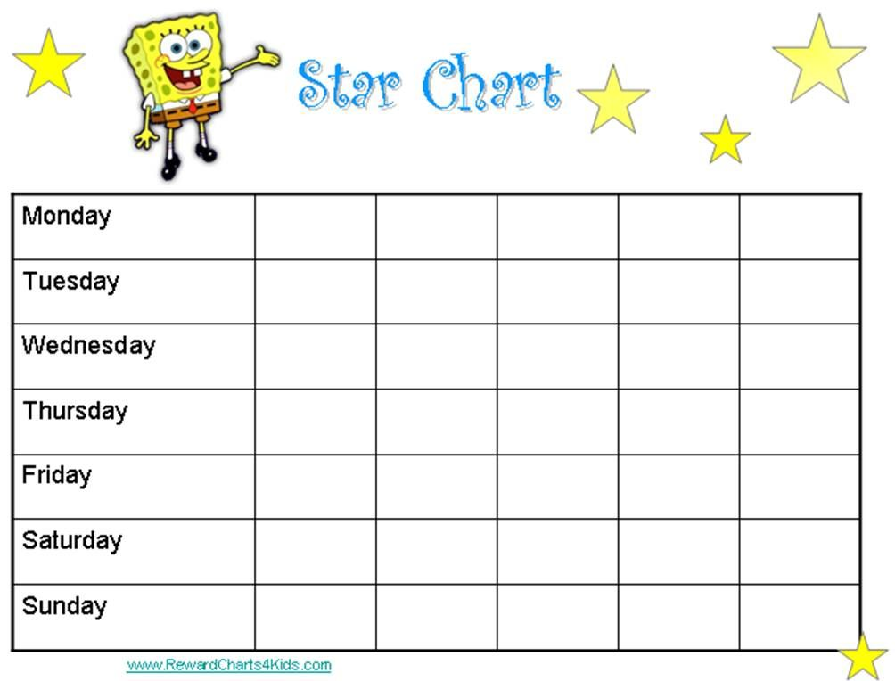 This is a photo of Nifty Star Chart Template