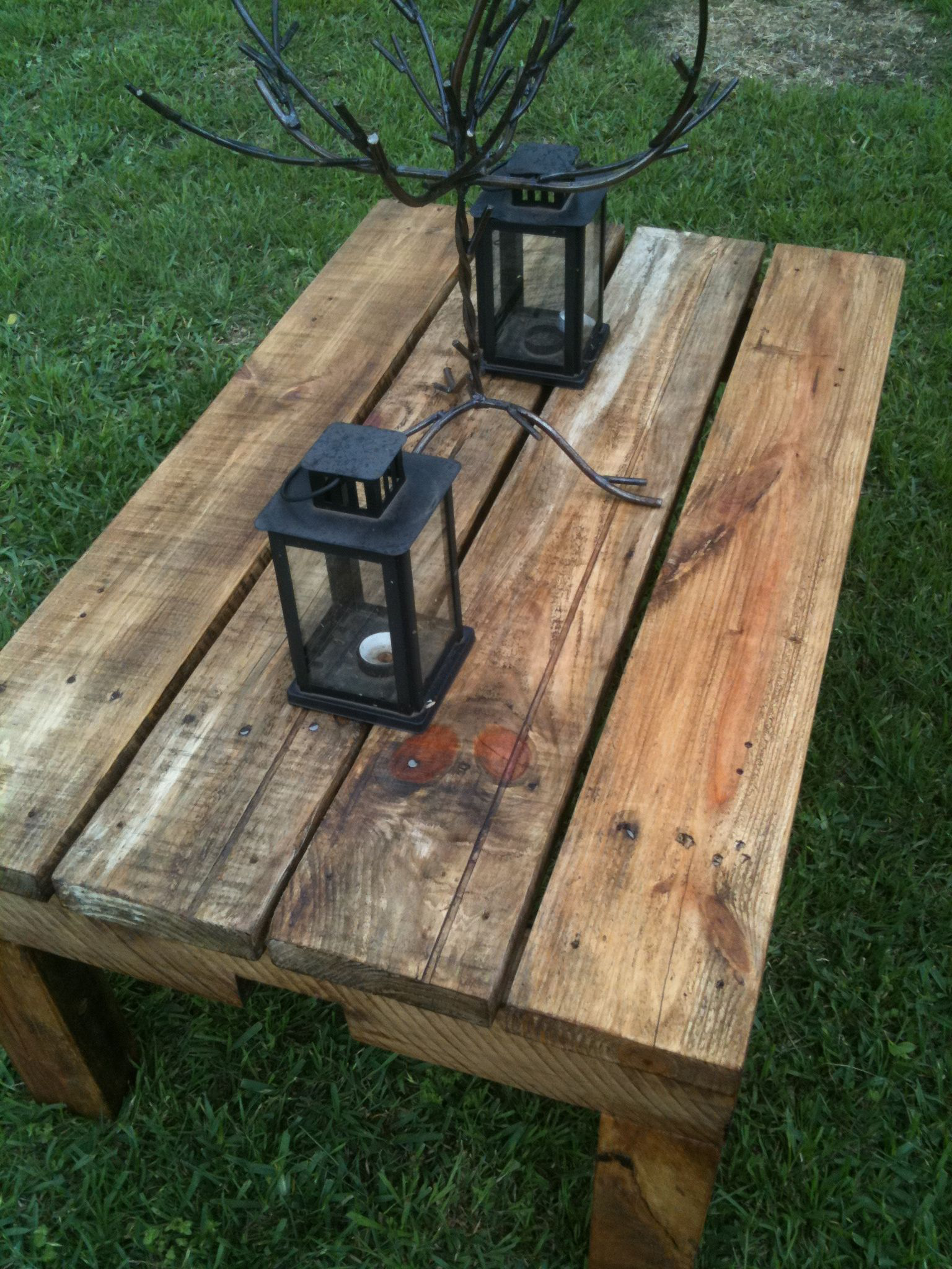 Pallet Wood Coffee Table Httpswwwfacebookcomlhpalletcreations (