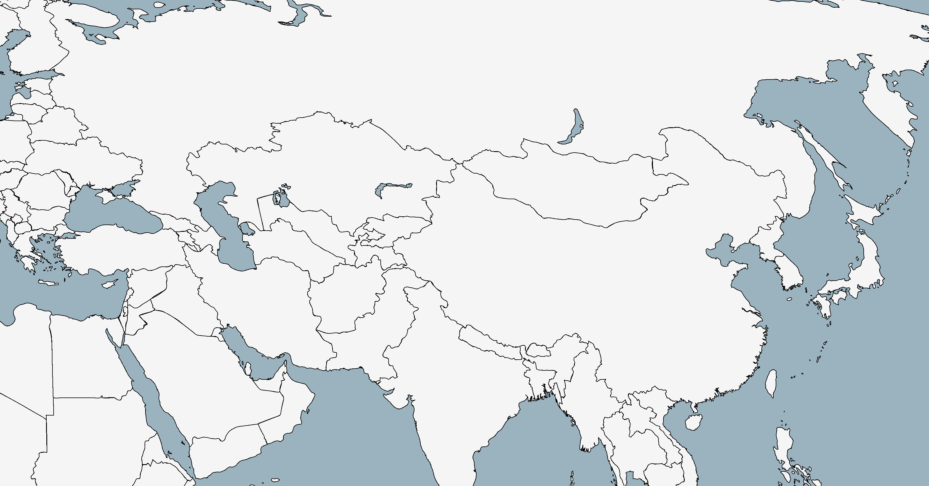 Blank Map Of Asia Throughout Roundtripticket Me At