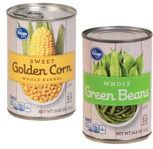 Canned Vegetables | packaging labels pop | Vegetable