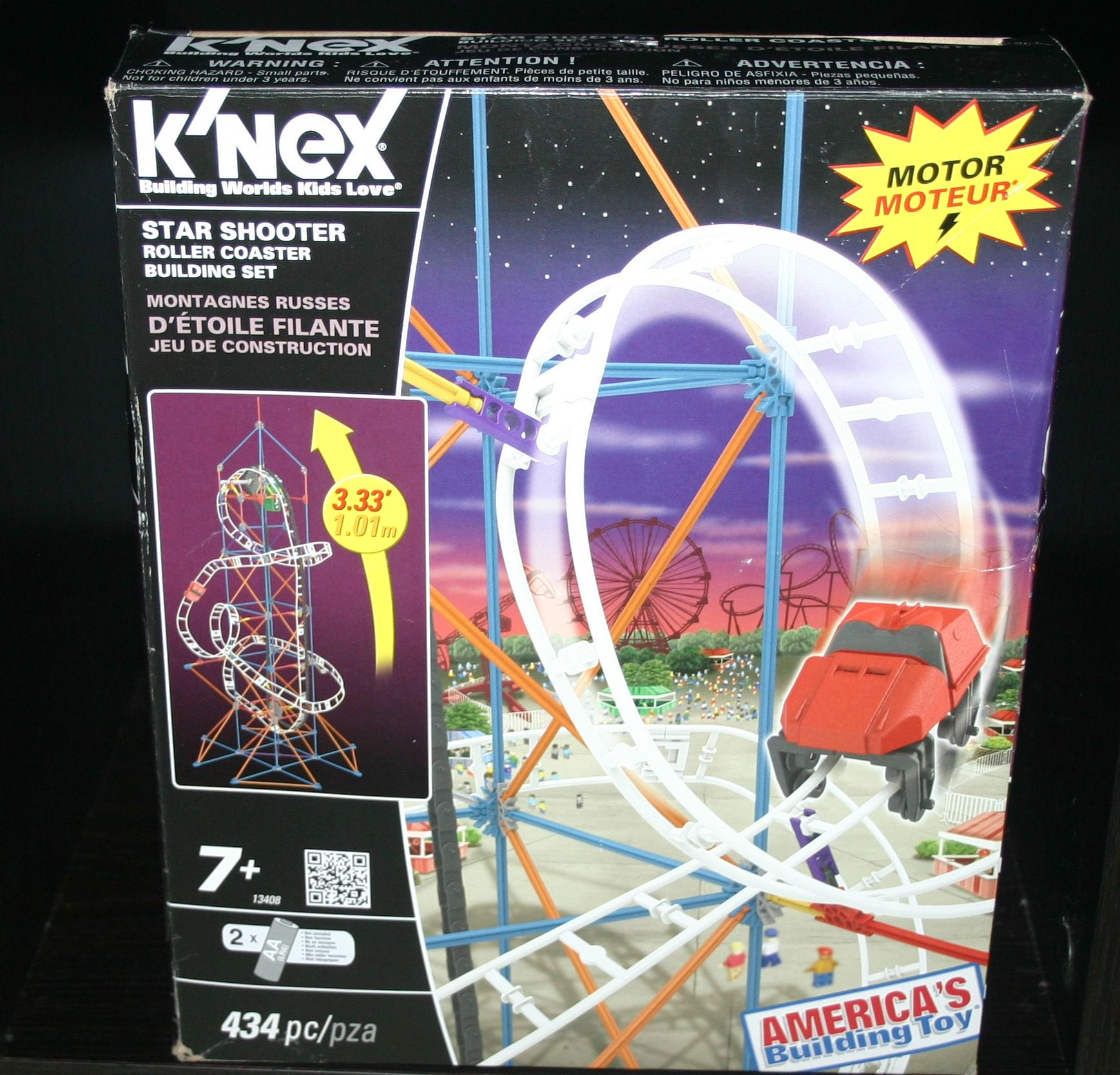 This Knex Building Set Is An Exciting Space Themed Roller Coaster