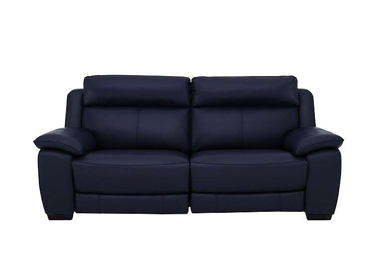 Starlight Express 3 Seater Leather Recliner Sofa With Power Headrests Reclining Sofa