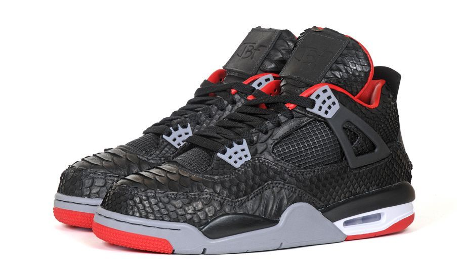 "the latest 8a676 fb66a Air Jordan IV ""Python"" Customs by JBF - Release Info ..."