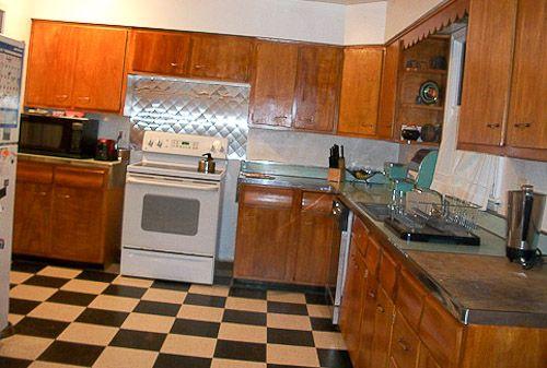 Best Black White Checked Kitchen Floor Kitchen Cabinets 400 x 300