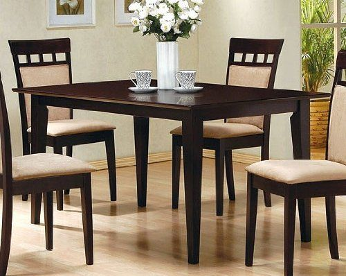 Coaster Cappuccino Rectangular Dining Table  Click Image Twice Unique Coaster Dining Room Furniture Design Decoration