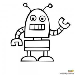 Robot Coloring Pages Beep