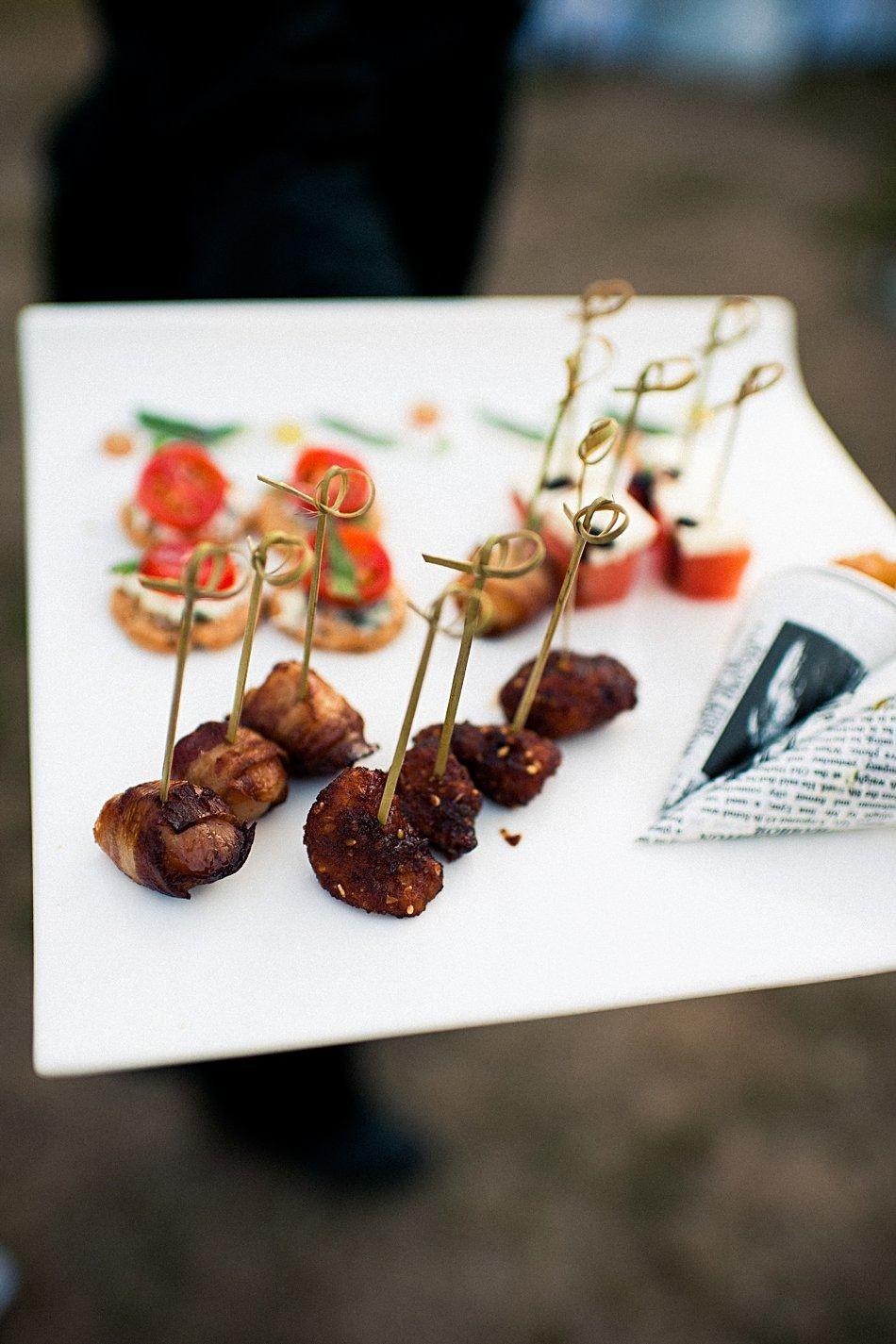 Coastal rhode island wedding menu inspiration bacon