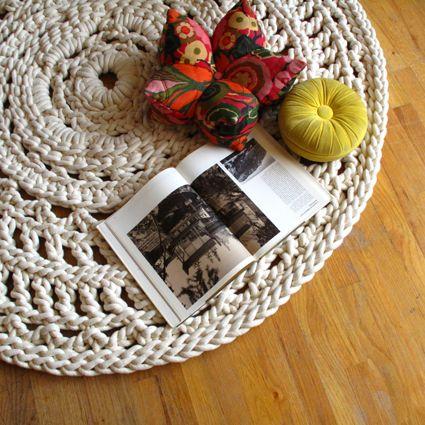 Mega Doily Hand Crochet Rug Doily Rug Crochet Doily Rug Wool Mats
