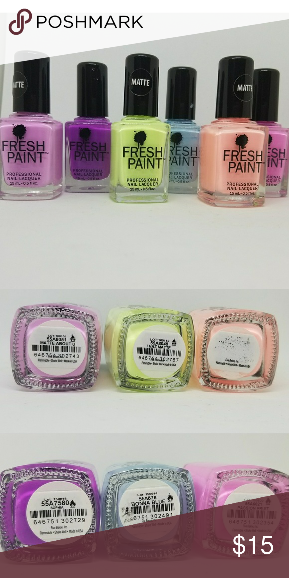 Fresh Paint Nail Polish lot Matte About U Sophia I Haz Matte Bonna ...