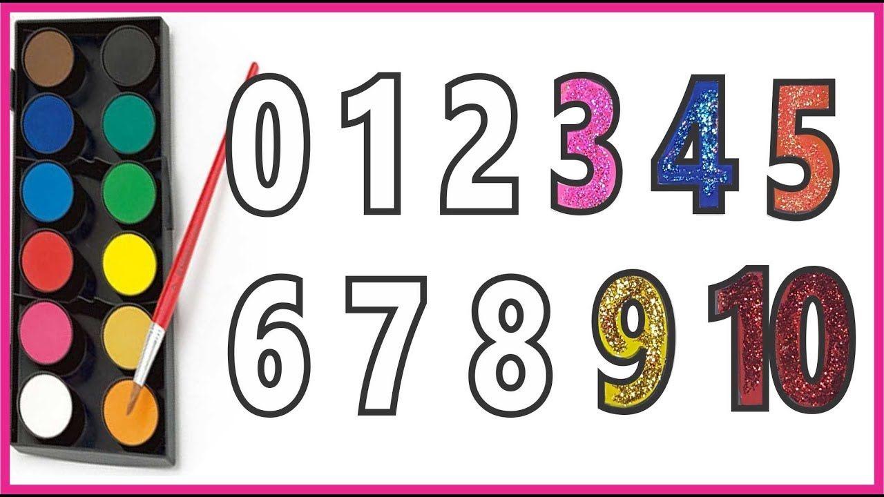Tô màu dạy bé học đếm số tiếng Việt Learn count number