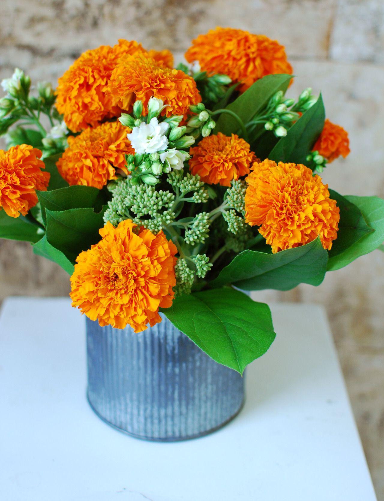 Marigolds kitschy or cute flower arrangements centre