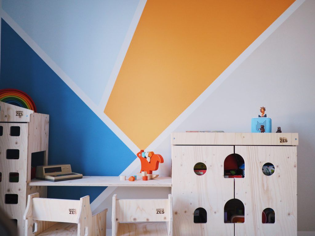 Wandgestaltung im Kinderzimmer eine kunterbunte
