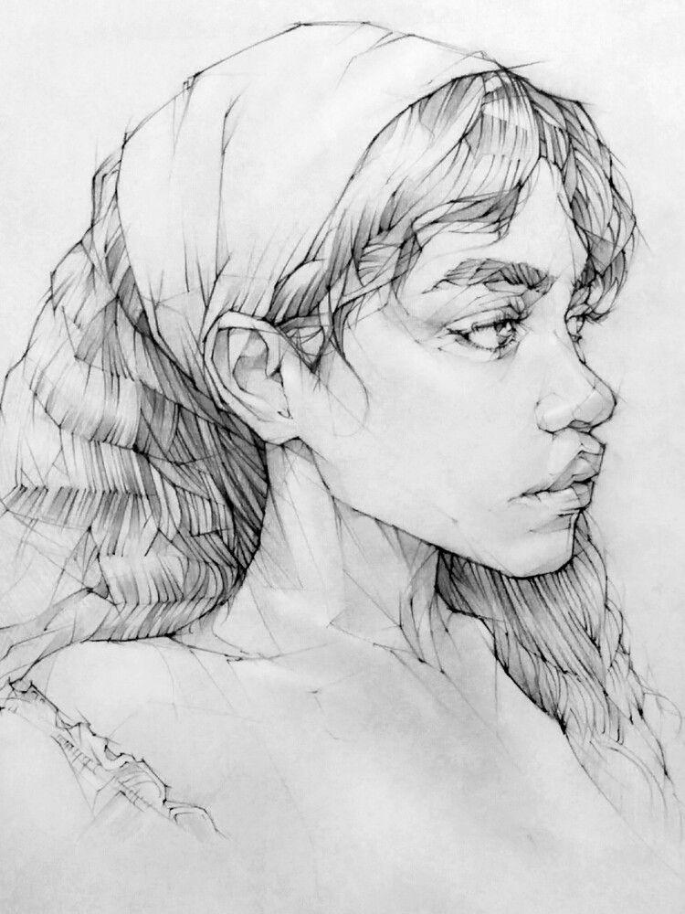 Photo of pencil drawing portrait Toh-Yasu藤保 #129, 藤保 Toh-Yasu
