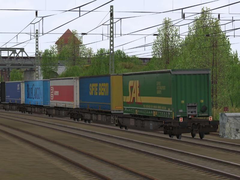 Zweiteilige Taschentragwagen Typ Sdggmrs Kombi Verkehr. Bis #EEP6 http://bit.ly/Sdggmrs-Kombi-Verkehr