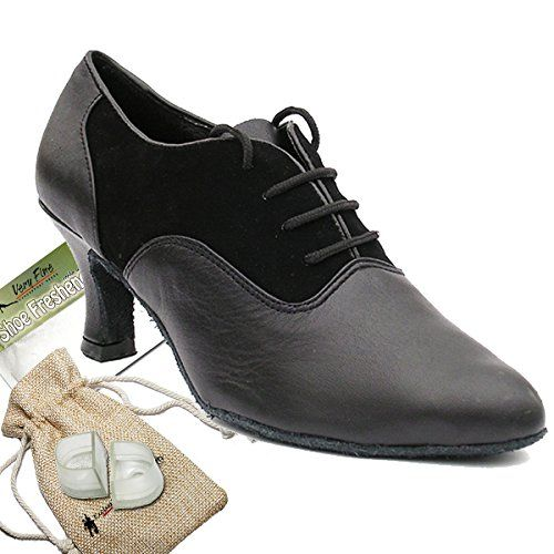Bundle Lightweight Very Fine Women Ballroom Salsa Latin Tango Dance Shoe 1688 Heel Protectors Pouch Black Leather 6 M US Heel 25 Inch *** You can get additional details at the image link.(This is an Amazon affiliate link and I receive a commission for the sales)