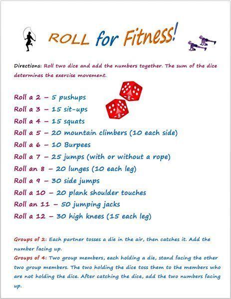 Roll fr Fitness, ein beliebtes Sportunterricht-Spiel, um Kinder jeden Alters zu begeistern-  #Alters...
