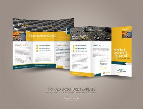 30 Contoh Desain Brosur Lipat Tiga – Hotel Brochure Template