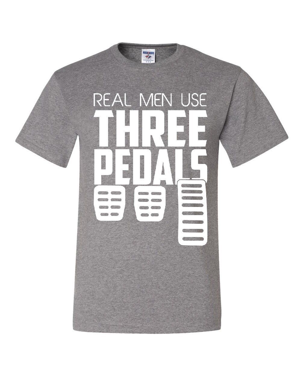 Real Men Use Three Pedals Hoodie Funny Stick Shift Clutch Drive Sweatshirt