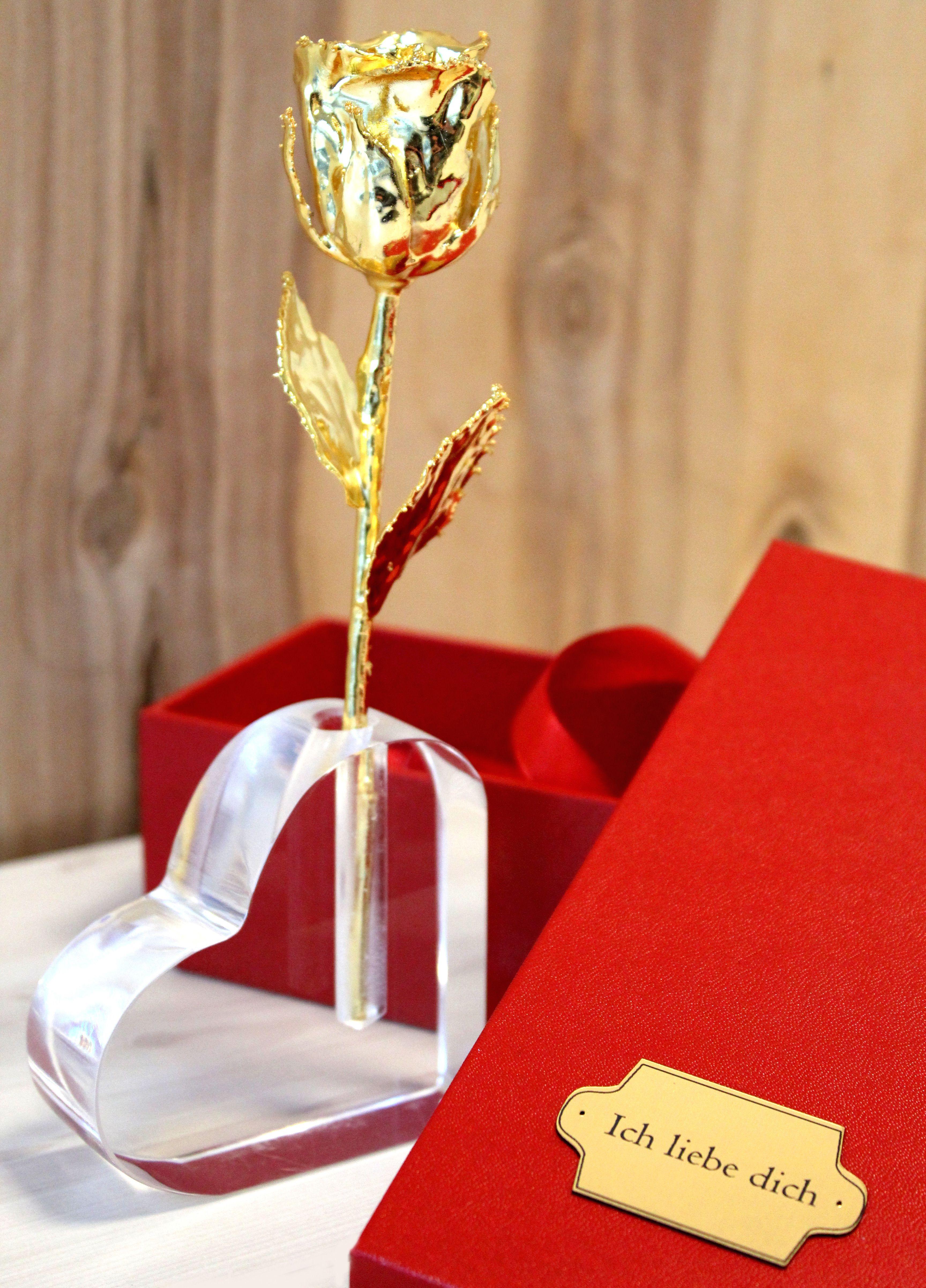 Die Vergoldete Rose Rosen Zum Valentinstag Geschenkideen Geschenk Ehefrau