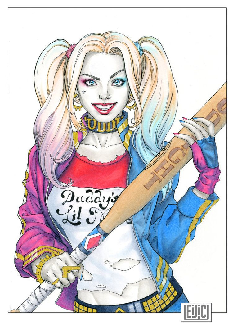 dc fan arts 176 harley quinn joker and comic