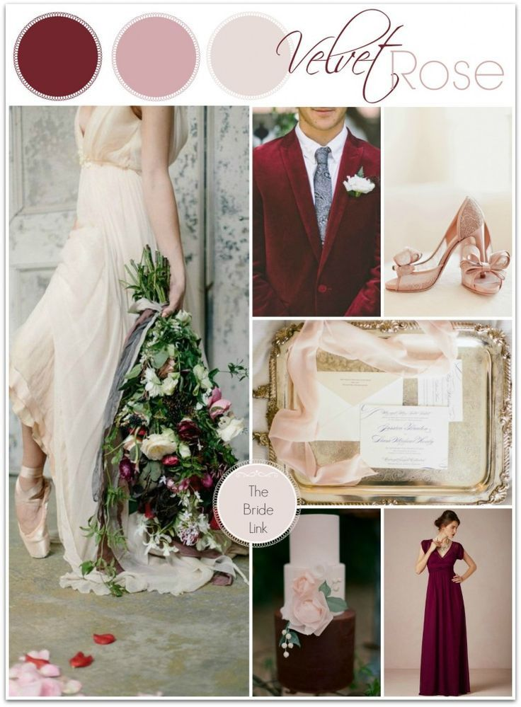 Burgundy And Blush Winter Wedding Inspiration