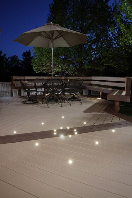 Creative deck lighting use dek dots to create a distinctive pattern creative deck lighting use dek dots to create a distinctive pattern with light aloadofball Images