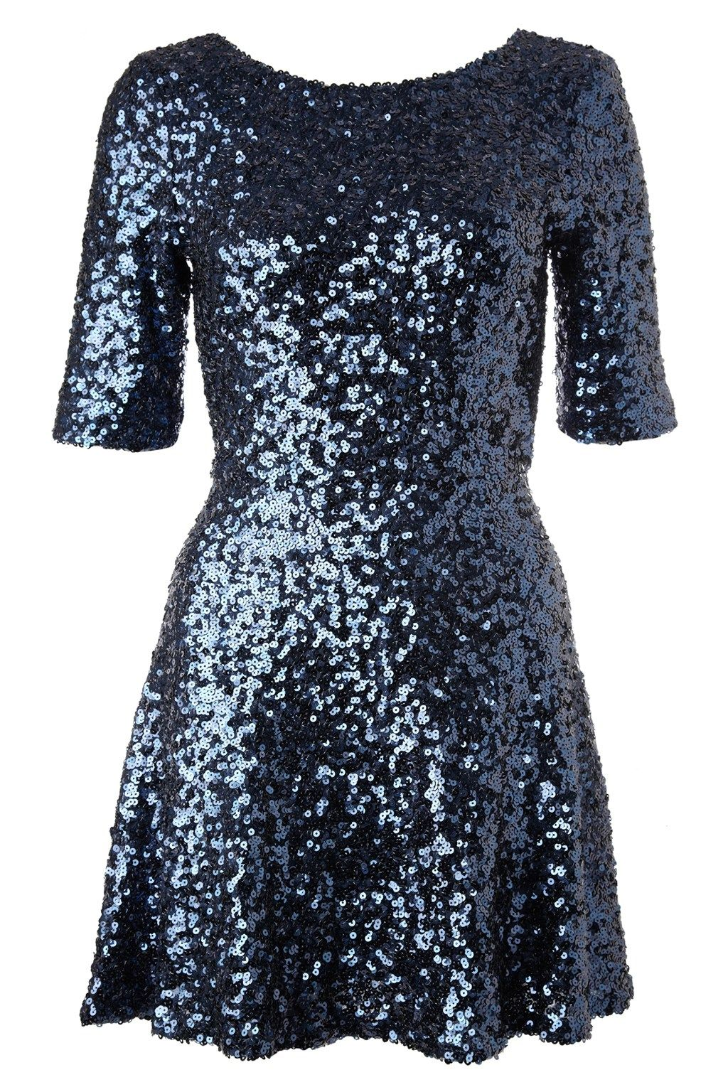 Sequin Flared Dress