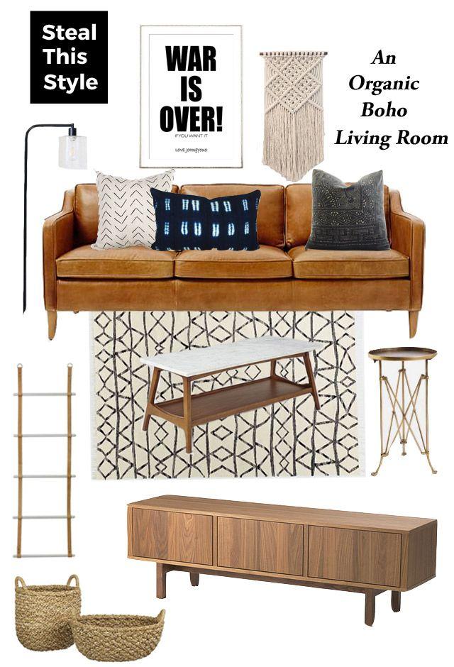 how to achieve a simple, boho living room