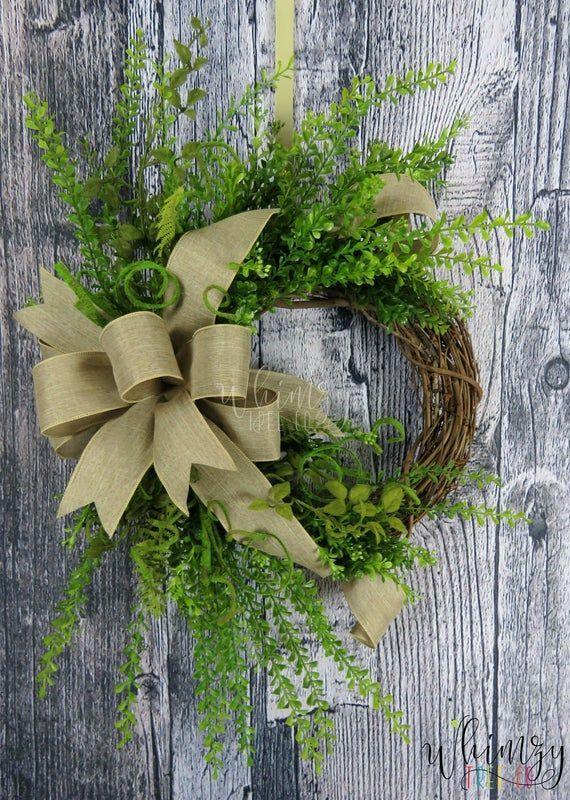 Photo of Cottage Wreath, Hydrangeas Wreath, Red Burlap Wreath, Winter Wreath, Farmhouse Wreath, Valentine Day