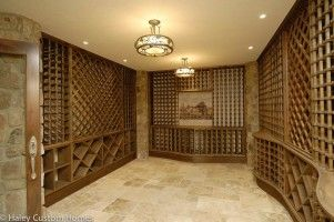 Wine room :: Stone between racks