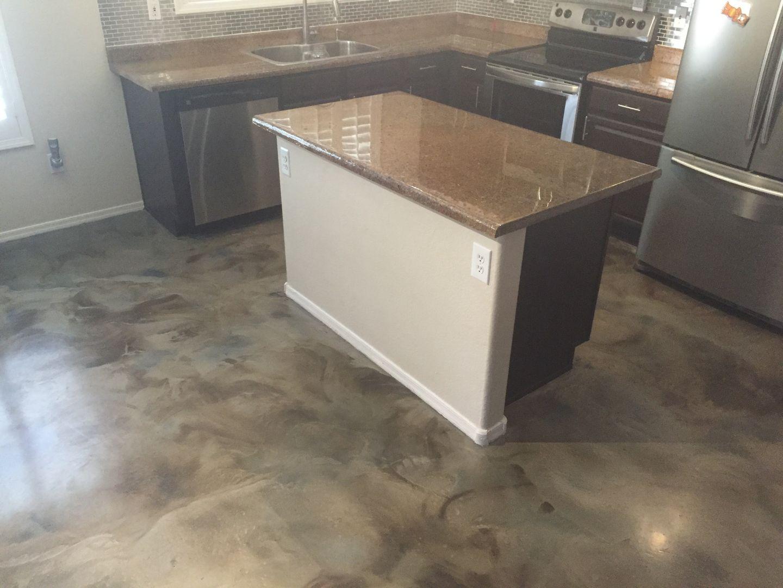 Staining Concrete Floors Indoors Acid